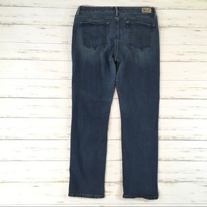 Levi's mid rise skinny stretch crop jeans 16